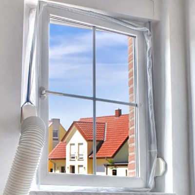 Window seal for portable air conditioners